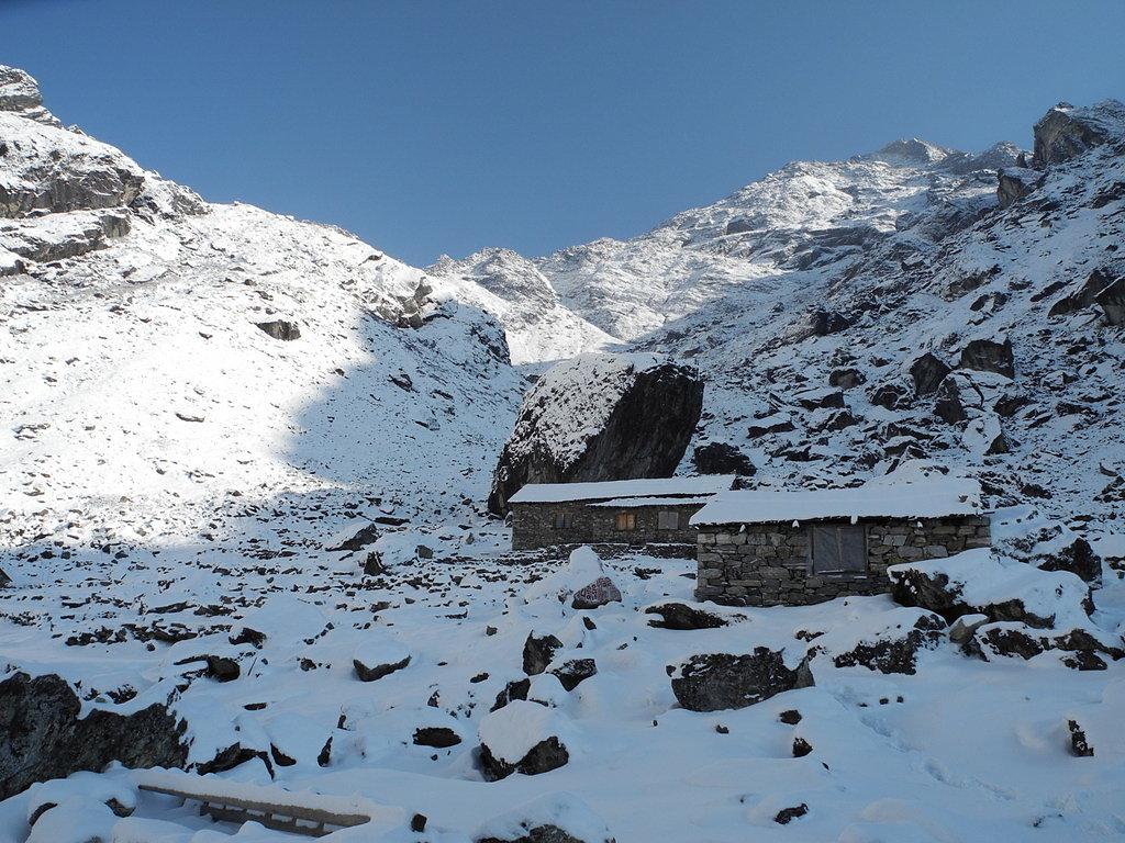 Winter in Thuli Kharka (4250m))