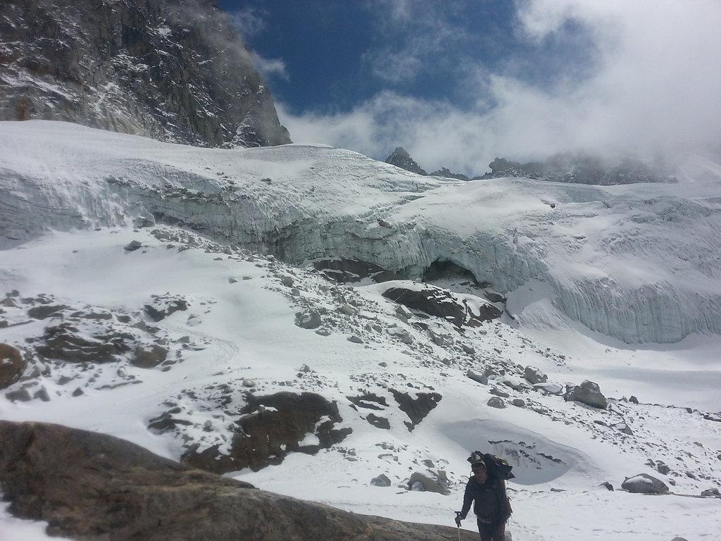 Ascent to the glacier